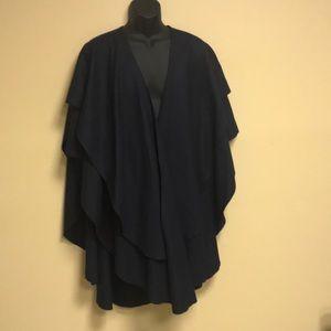 Wool French layered cape/ shawl